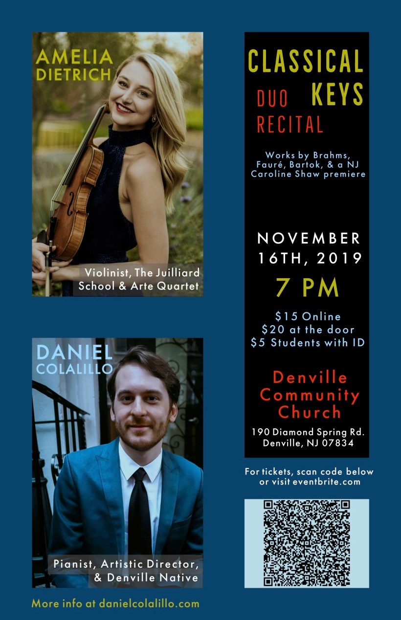 Dan Duo Recital Poster